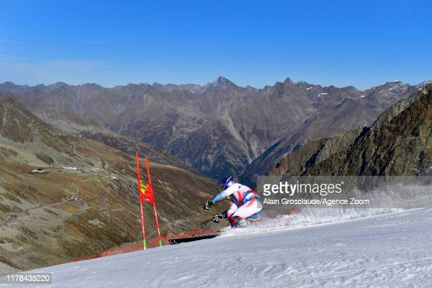 Alexis Pinturault of France takes 1st place during the Audi FIS Alpine Ski World Cup Men's Giant Slalom on October 27, 2019 in Soelden, Austria.
