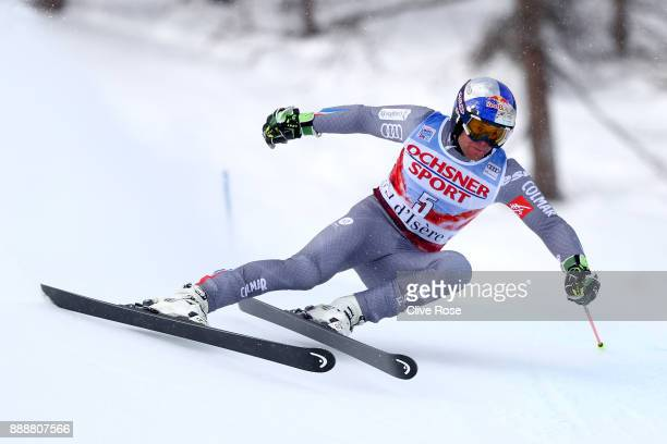 Alexis Pinturault of France takes 1st place during the Audi FIS Alpine Ski World Cup Men's Giant Slalom on December 9 2017 in Vald'Isere France