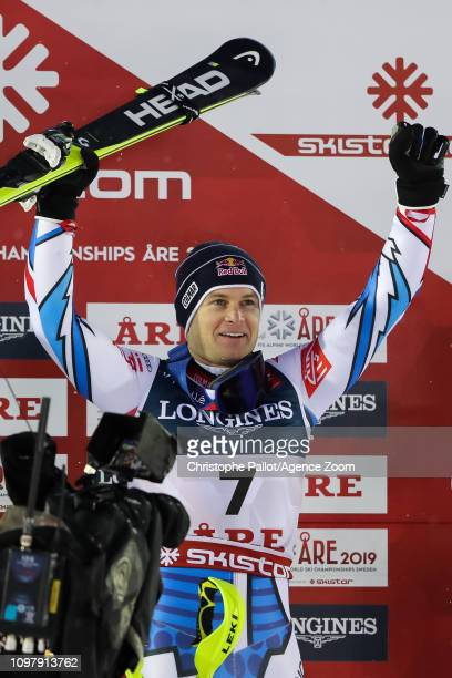Alexis Pinturault of France wins the gold medal during the FIS World Ski Championships Men's Alpine Combined on February 11 2019 in Are Sweden