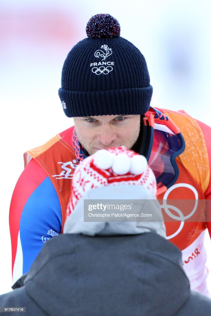 Alexis Pinturault of France wins the silver medal during the Alpine Skiing Men's Combined at Jeongseon Alpine Centre on February 13, 2018 in Pyeongchang-gun, South Korea.