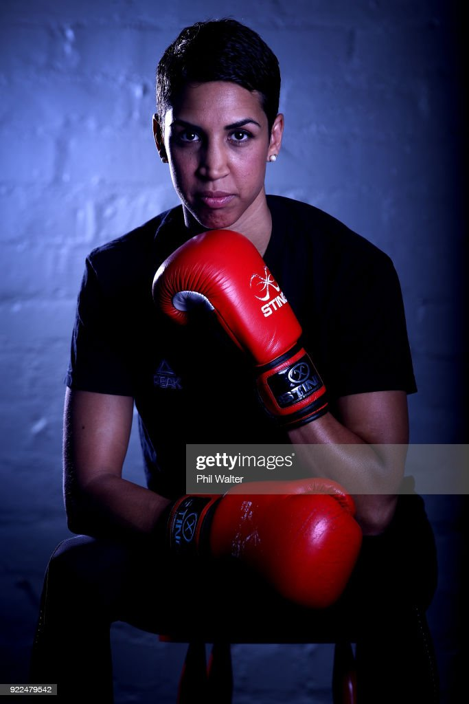 Alexis Pritchard poses for a portrait during the New Zealand Commonwealth Games Boxing Team Announcement at Wreck Room on February 22, 2018 in Auckland, New Zealand.