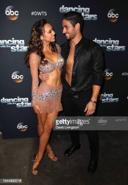 Alexis Ren and Alan Bersten pose at 'Dancing with the Stars' Season 27 at CBS Televison City on October 2 2018 in Los Angeles California