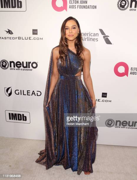 Alexis Ren attends 27th Annual Elton John AIDS Foundation Academy Awards Viewing Party Celebrating EJAF And The 91st Academy Awards on February 24...