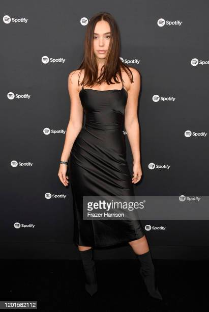 Alexis Ren attends Spotify Hosts Best New Artist Party at The Lot Studios on January 23 2020 in Los Angeles California