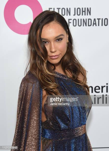Alexis Ren attends the 27th annual Elton John AIDS Foundation Academy Awards Viewing Party sponsored by IMDb and Neuro Drinks celebrating EJAF and...