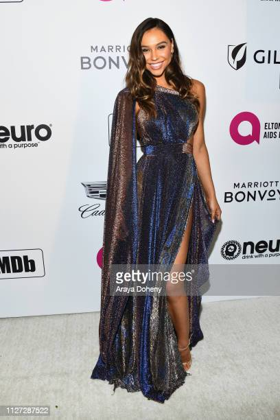 Alexis Ren attends the 27th annual Elton John AIDS Foundation Academy Awards Viewing Party celebrating EJAF and the 91st Academy Awards on February...