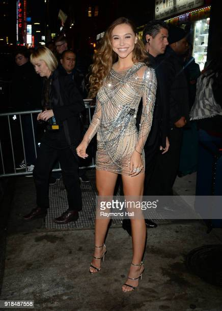 Alexis Ren attends the Sports Illustrated Swimsuit 2018 launch event at the Moxie Hotel on February 14 2018 in New York City