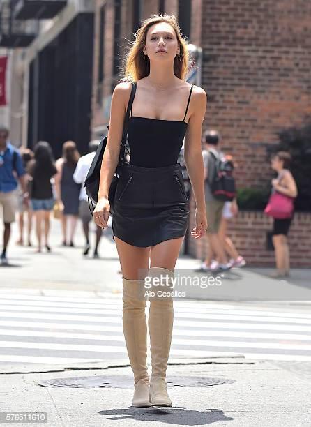 Alexis Ren is seen in Soho on July 15 2016 in New York City