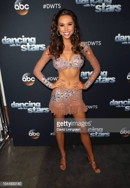 Alexis Ren poses at 'Dancing with the Stars' Season 27 at CBS Televison City on October 2 2018 in Los Angeles California