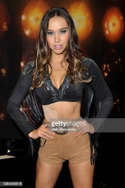 Alexis Ren poses at Dancing With The Stars Season 27 at CBS Televison City on November 05 2018 in Los Angeles California