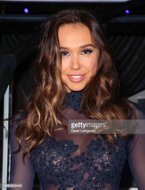 Alexis Ren poses at 'Dancing with the Stars' Season 27 Finale at CBS Television City on November 19 2018 in Los Angeles California