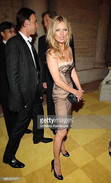 Alexis Roche and Kate Moss during 2005 CFDA Fashion Awards Inside Arrivals at New York Public Library in New York City New York United States