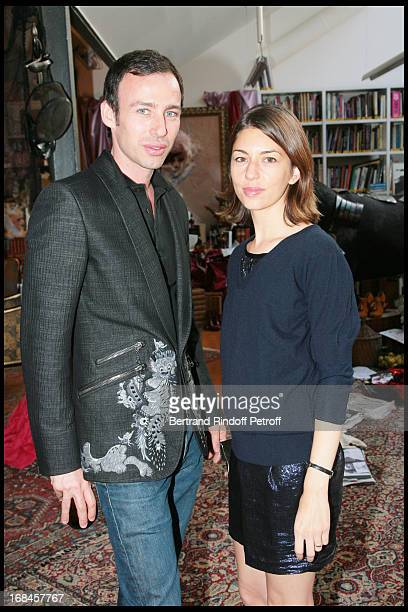 Alexis Roche and Sofia Coppola at Launch Of John Galliano's New Fragrance Number 1 In Paris
