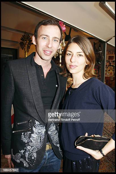 Alexis Roche and Sofia Coppola at Launch Of John Galliano's New Fragrance 'Number 1' In Paris