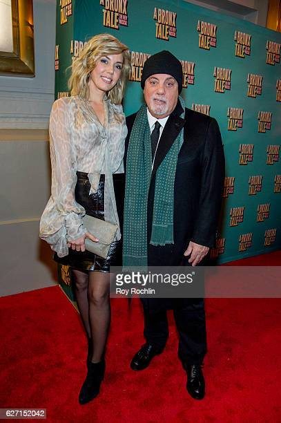 Alexis Roderick and Billy Joel attend 'a Bronx Tale' Broadway Opening Night at The Longacre Theatre on December 1 2016 in New York City