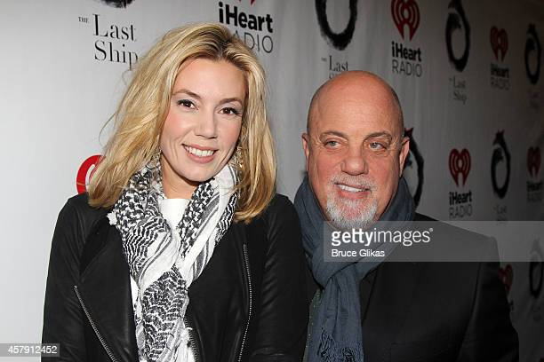 Alexis Roderick and Billy Joel pose at The Opening Night of The Last Ship on Broadway at The Neil Simon Theatre on October 26 2014 in New York City