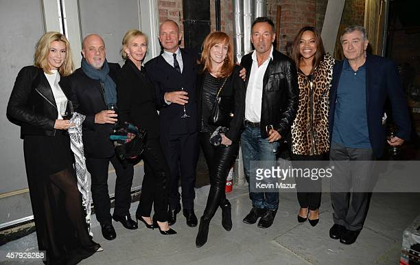 Alexis Roderick Billy Joel Trudie Styler Sting Patti Scialfa Bruce Springsteen Grace Hightower and Robert DeNiro attend The Last Ship broadway...