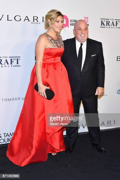 Alexis Roderick Joel and Billy Joel attend the Elton John AIDS Foundation's Annual Fall Gala with Cocktails By Clase Azul Tequila at Cathedral of St...