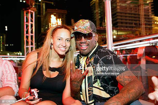 Alexis Rodman and Former NBA player and father Dennis Rodman celebrate at Hawaiian Tropic Zone's 'Torrid' Nightclub nside the Planet Hollywood Resort...