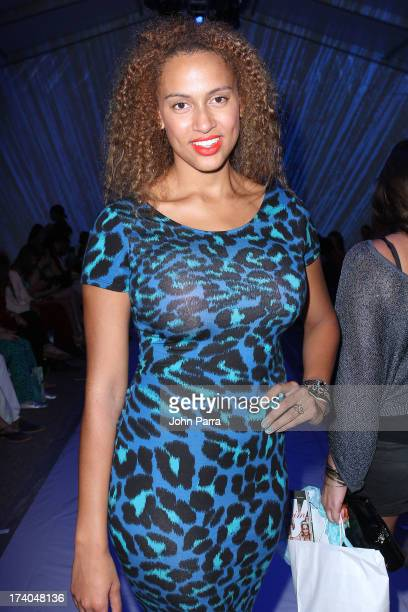Alexis Rodman attends the Dolores Cortes show during MercedesBenz Fashion Week Swim 2014 at Cabana Grande at the Raleigh on July 19 2013 in Miami...