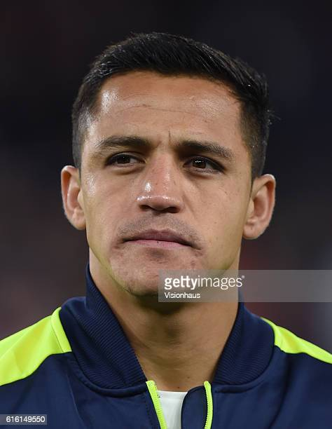 Alexis Sanchez of Arsenal before the UEFA Champions League match between Arsenal FC and PFC Ludogorets Razgrad at Emirates Stadium on October 19 2016...