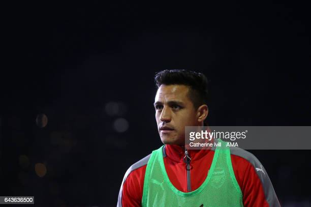 Alexis Sanchez of Arsenal during The Emirates FA Cup Fifth Round match between Sutton United and Arsenal on February 20 2017 in Sutton Greater London