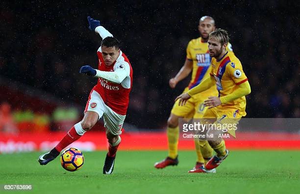 Alexis Sanchez of Arsenal during the Premier League match between Arsenal and Crystal Palace at Emirates Stadium on January 1 2017 in London England