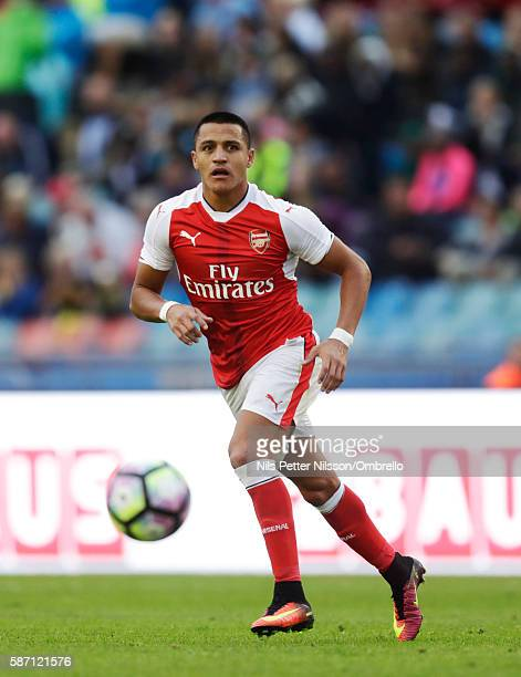 Alexis Sanchez of Arsenal during the PreSeason Friendly between Arsenal and Manchester City at Ullevi on August 7 2016 in Gothenburg Sweden