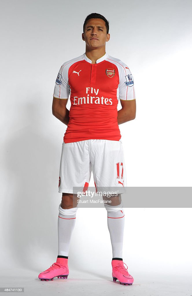 Alexis Sanchez of Arsenal on August 20, 2015 in St Albans, England.