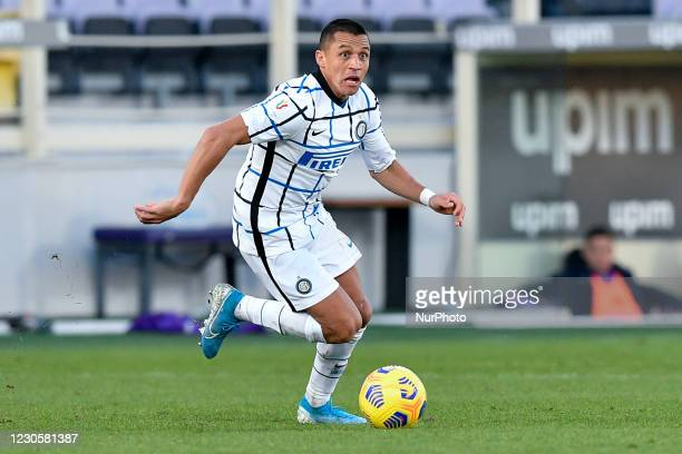 Alexis Sanchez of FC Internazionale during the Coppa Italia match between ACF Fiorentina and FC Internazionale at Stadio Artemio Franchi, Florence,...