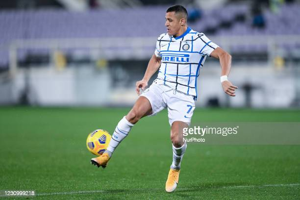 Alexis Sanchez of FC Internazionale during the Serie A match between ACF Fiorentina and FC Internazionale at Stadio Artemio Franchi, Florence, Italy...