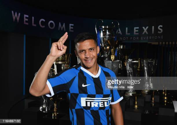 Alexis Sanchez of FC Internazionale poses for a photo on August 28, 2019 in Milan, Italy. Sanchez has joined the club on loan from Manchester United...