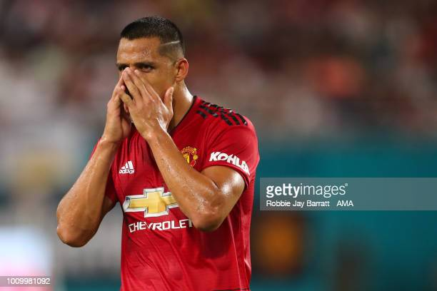 Alexis Sanchez of Manchester United during the International Champions Cup 2018 fixture between Manchester United v Real Madrid at Hard Rock Stadium...