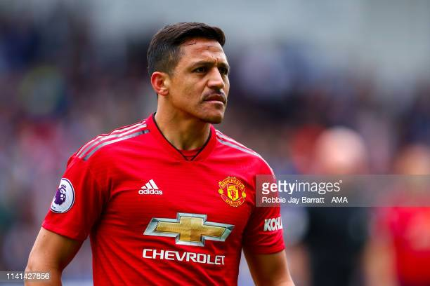 Alexis Sanchez of Manchester United during the Premier League match between Huddersfield Town and Manchester United at John Smith's Stadium on May 5...