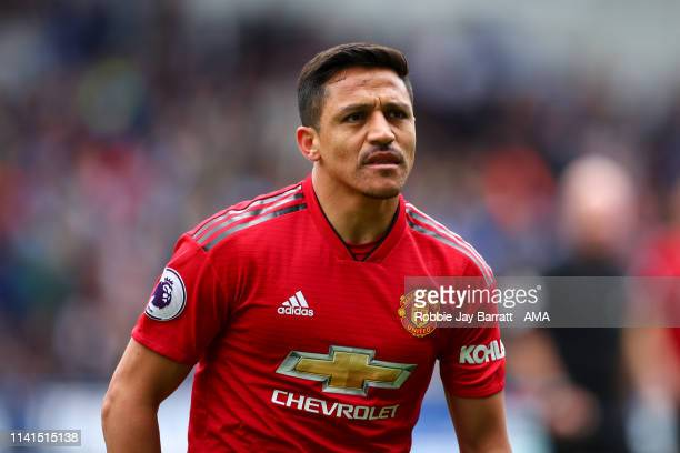 Alexis Sanchez of Manchester United during the Premier League match between Huddersfield Town and Manchester United at John Smith's Stadium on May 5,...