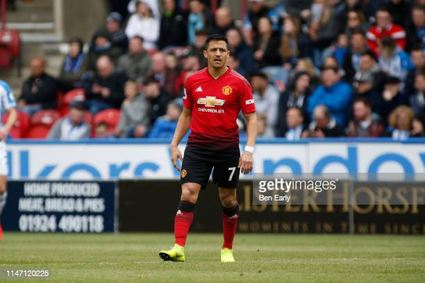 Alexis Sanchez of Manchester United during the Premier League match between Huddersfield Town and Manchester United at John Smith's Stadium on May 05...