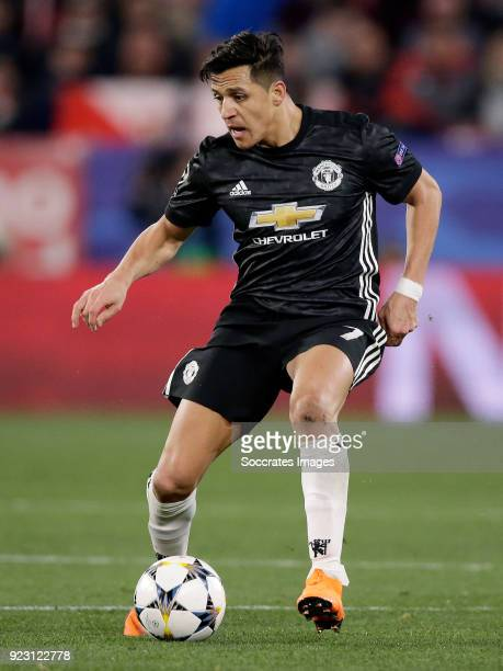 Alexis Sanchez of Manchester United during the UEFA Champions League match between Sevilla v Manchester United at the Estadio Ramon Sanchez Pizjuan...