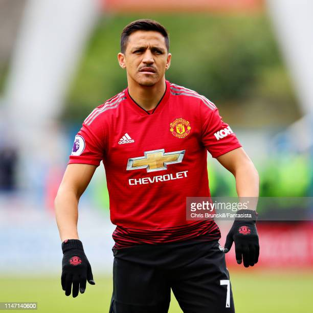 Alexis Sanchez of Manchester United looks on during the Premier League match between Huddersfield Town and Manchester United at John Smith's Stadium...
