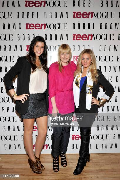 Alexis Shea Amy Astley and Alden Haviland attend AMY ASTLEY and TEEN VOGUE's Fashion at Work featuring BOBBI BROWN and JENNA LYONS at Hudson and...