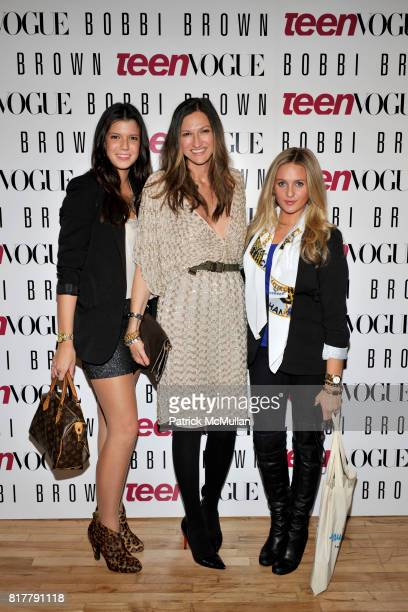 Alexis Shea Jenna Lyons and Alden Haviland attend AMY ASTLEY and TEEN VOGUE's Fashion at Work featuring BOBBI BROWN and JENNA LYONS at Hudson and...