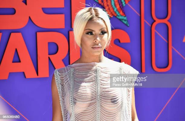 Alexis Sky attends the 2018 BET Awards at Microsoft Theater on June 24 2018 in Los Angeles California
