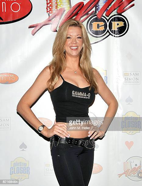 Alexis Skye attends the First Annual All In For CP Celebrity No Limit Texas HoldEm Tournament benefiting the One Step closer Foundation at the...