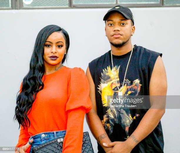 Alexis Skyy and guest attend the BoohooMAN Launch party on June 20 2017 in Los Angeles California