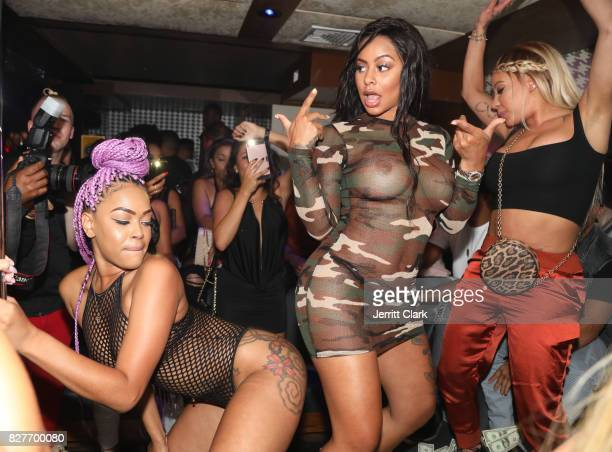 Alexis Skyy and HazelE attend Moula Mondays Hosted By Hazel E And Alexis Skyy at The Diamond District on August 7 2017 in Los Angeles California