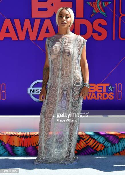 Alexis Skyy arrives to the 2018 BET Awards held at Microsoft Theater on June 24 2018 in Los Angeles California