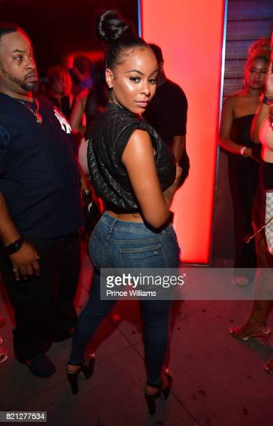 Alexis Skyy attends Meek Mill Album Release Party for 'Wins and Losses' at Compound on July 23 2017 in Atlanta Georgia
