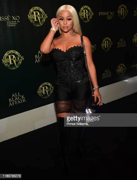 Alexis Skyy attends the All Black Affair at Gold Room on October 26 2019 in Atlanta Georgia