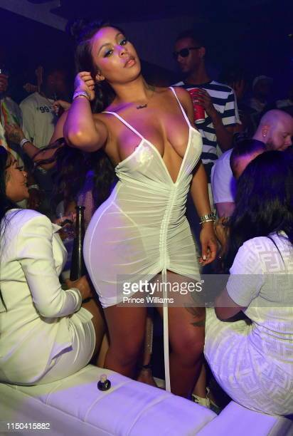 Alexis Skyy attends The All White Affair at Republic on May 18 2019 in Atlanta Georgia