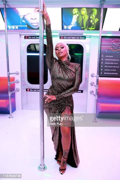 Alexis Skyy attends the InstaCarpet during the BET Awards 2019 at Microsoft Theater on June 23 2019 in Los Angeles California