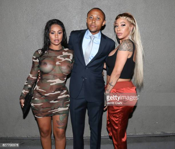 Alexis Skyy Walter Mosely and HazelE attend Moula Mondays Hosted By Hazel E And Alexis Skyy at The Diamond District on August 7 2017 in Los Angeles...